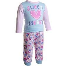 Baby Girls Lullaby Sweetheart Pyjamas Pink Lilac Blue 6-12, 12-18, 18-23mths