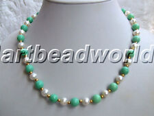 "variations color 1 2 5 10strand 17"" white freshwater pearl & mix jade gp clasp"