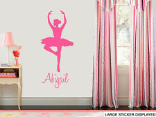 Personalised Ballerina Wall Art Stickers Family Quote Lyrics Decals