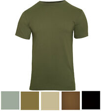 Solid Color Short Sleeve Military T-Shirt
