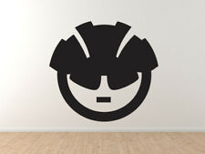 Sports Icon - Bicycling Helmet Biker Glasses  - Vinyl Wall Decal