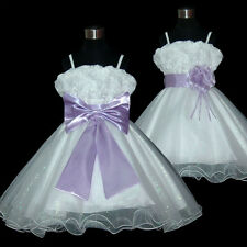 USMD70 Lilac *Two Way Wear*Pageant Bridesmaid Wedding Flower Girl Dress 1 to 14