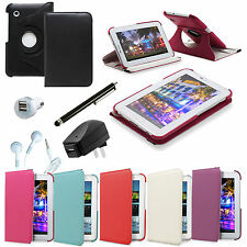 360 Rotating Leather Folio Cover Case for Samsung GALAXY Tab 2 7.0 Accessory Kit