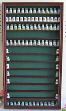 180 Thimble Display Case Wall Shadow Box with glass door, Solid Wood, TC10