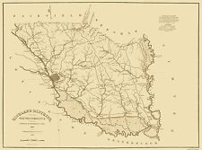 Old County Maps - RICHLAND DISTRICT (SC/COLUMBIA) LANDOWNER MAP 1825