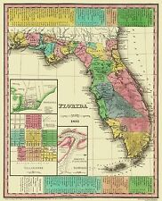 Old State Maps- STATE OF FLORIDA (FL) BY H.S. TANNER MAP 1833