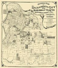 Historic City Maps - SACRAMENTO CALIFORNIA (CA) LANDOWNER MAP BY J. ANDERSON 190