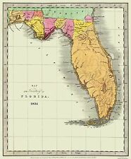 Old State Maps - STATE OF FLORIDA (FL) MAP BY DAVID H. BURR 1834