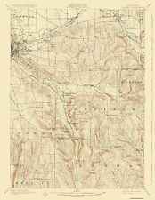 Topographical Map Print - Dryden New York Quad - USGS 1900 - 17 x 21.88