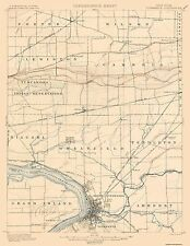 Topographical Map Print - Tonawanda New York Quad - USGS 1900 - 17 x 22