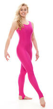 Ladies Womens Shiny Stirrup Dance Gymnastics Sleeveless Unitard Catsuit KDC011