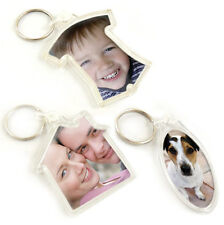 Blank  Photo Keyrings insert your own image - Shaped House Football T-Shirt Oval