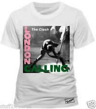 The Clash London Calling Official Mens T Shirt White Album Cover Art 0143