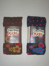 COUNTRY KIDS Cotton Tights Ages 6-11 NWT Floral Polka Dot Navy Berry Chocolate