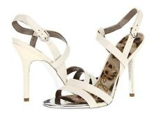 Sam Edelman Abbott Heel Off White Snake sandals strappy Shoe Leather NEW Reptile