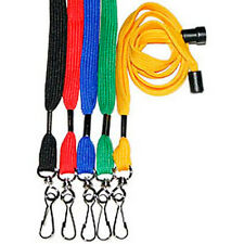 LOT of 100 or 50 NECK Flat LANYARD ID BADGES Strap/Holder With Breakaway Buckle