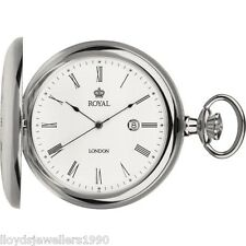 ROYAL LONDON Quartz Pocket Watch 1/2 Hunter 90008-01 90008-02