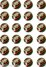 24x PRECUT WILLY WONKA CHOCOLATE BARS/FACTORY RICE/WAFER PAPER CUP CAKE TOPPERS