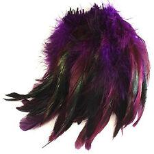 SCHLAPPEN STRUNG FEATHERS 10CM - art, craft, rooster, millinery, trimming,