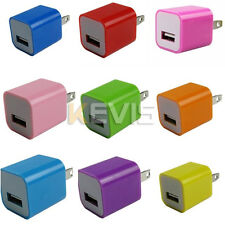 1/11Color 1A Mini USB Wall Charger For Iphone 5G 4S 4G Ipod Touch 4 5 Nano 7 US