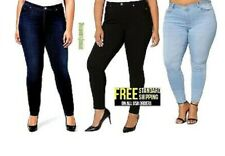 NEW 1826 DARK BLUE DENIM JEANS HIGH WAIST WOMENS PLUS SIZE SKINNY LEG SIZE 14-22