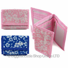 Unisex Velcro Floral Wallet Canvas TriFold Change Section by SPIRIT 2 Colours