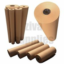 KRAFT BROWN WRAPPING PAPER-Heavy Duty-88gsm Strong Roll-500mm to 900mm Wide