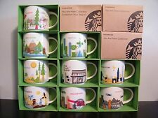 Starbucks YOU ARE HERE YAH Mug New YOU PICK Multiple City NIB Collector Cup