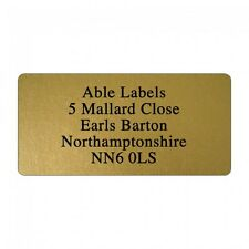 Personalised Original Cut Address Label stickers 500 labels in gold silver clear