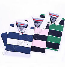 Tommy Hilfiger Men Short Sleeve Logo Polo Classic Fit Rugby Shirt - $0 Shipping