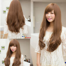 New Fashion Style Womens Weave Curly Wavy Long Hair Full Wigs Cosplay Party Wig