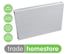 QUINN LEWEN HORIZONTAL CONVECTOR PANEL RADIATOR White Flat Front + FREE DELIVERY