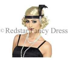 LADIES 1920'S GANGSTER BLACK FLAPPER FANCY DRESS AL CAPONE TRILBY HEN PARTY