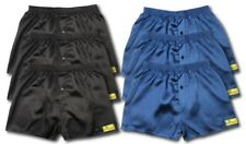 6 PACK SATIN BOXER SHORTS NAVY BLACK GREY SIZES AVAILABLE M L XL XXL XXL S