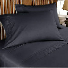 CAMERICAN BEDDING COLLECTION 1200TC 100% EGYPTIAN COTTON DARKGREY SOLID ALL SIZE