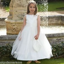 Children's Flower Girl Bridesmaid Ball Gown Party Dress & Heart Bag 3 to 10 Yrs