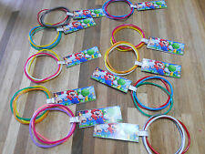 10 sets SUPER MARIO birthday party favor bracelets NINTENDO Wii U Customizable