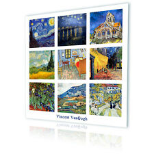 LARGE Canvas Van Gogh Collage Set of 9 Pictures decor fine art gallery photo