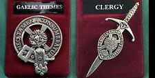 Clergy Scottish Clan Crest Badge or Kilt Pin Ships free in US