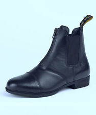 Brogini Zip Front Paddock Boot Jodhpur Boots Soft Leather Black