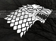 Game of Thrones * Stark Wolf * vinyl sticker * MULTIPLE COLORS AVAILABLE