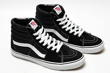 Brand New Discounted VANS Sk8 Hi Classic Canvas/Suede Skateboard Shoes in Black