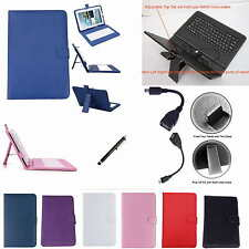 """Colorful Keyboard PU Leather Case+Stylus+OTG For 10.1"""" Google Nexus 10 Tablet PC"""