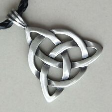 TRIQUETRA TRINITY CELTIC Knot Pagan Norse Viking Magick Charmed Pewter Pendant