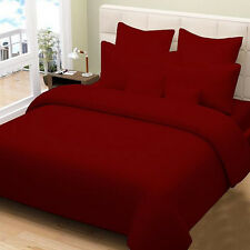 ROYALCOMPLETE BEDDING COLLECTION 1200TC 100% EGYPTIAN COTTON RED SOLID ALL SIZE