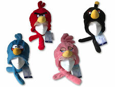 Officiel Angry Birds Peluche tête plus chaud-rouge, bleu, noir et rose-new hat