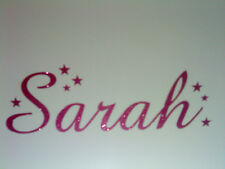 Personalised GLITTER Name with Stars Girls Boys vinyl wall art