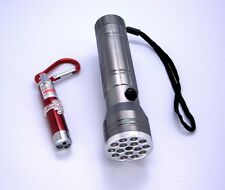 Compact 15 LED +UV +Red Laser Pointer Super Bright Flashlight w Key Chain [LOT]