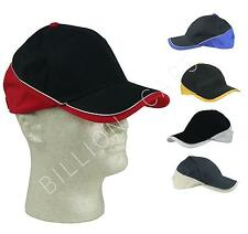 WHOLESALE Baseball Cap with Brim to Back Design Hat (Comes in 5 Colors) BULK