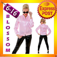 J86 Grease Pink Ladies Satin Jacket Lady 50's Costume Frenchie Rizzo Fancy Dress